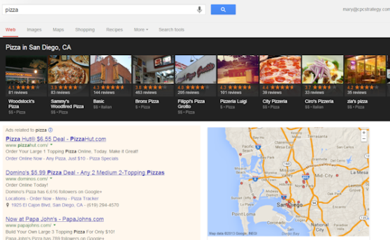 google-local-pizza